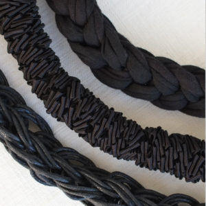 Plait Fabric, Zig Zag & & Palit Cord Close Up