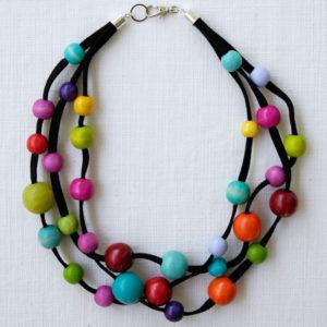 Multi-colour polka dot