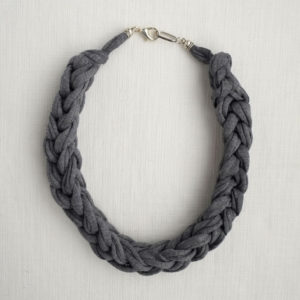 Charcoal Plait Fabric