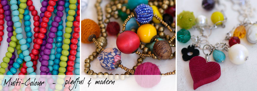 Multi-colour jewellery