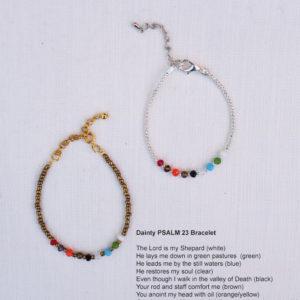 Dainty PSALM 23 Bracelet