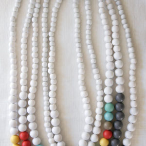 Colour block pastel beads