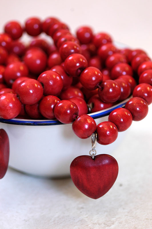 Bauble Heart Red