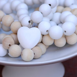 Bauble Heart White